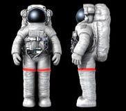 Αστροναύτης, εικόνα με μια πορεία εργασίας Στοκ Εικόνες