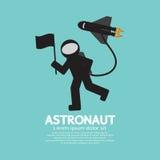 Αστροναύτης με το διαστημόπλοιο γραφικό Στοκ φωτογραφίες με δικαίωμα ελεύθερης χρήσης
