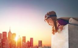 Αστροναύτης παιχνιδιών κοριτσιών Στοκ Φωτογραφία