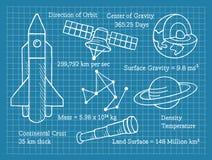 Αστρονομία, επιστήμη, σχολείο, σχεδιάγραμμα απεικόνιση αποθεμάτων
