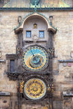 Αστρονομικά 'Ένδειξη ώρασ' και ημερολόγιο της Πράγας Orloj Στοκ Εικόνα