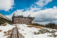 Αστρονομικό παρατηρητήριο στο pleso Skalnate, Σλοβακία Στοκ Εικόνα