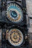 Αστρονομικό ρολόι στην Πράγα Στοκ Φωτογραφία