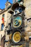 Αστρονομικό ρολόι της Πράγας, παλαιό τετράγωνο στοκ φωτογραφία