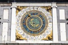 Αστρονομικό ρολόι, Brescia, Ιταλία Στοκ φωτογραφίες με δικαίωμα ελεύθερης χρήσης