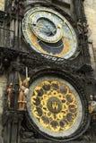 Αστρονομικό ρολόι Πράγα της Πράγας orloj, παλαιός πύργος Δημαρχείων Στοκ εικόνα με δικαίωμα ελεύθερης χρήσης