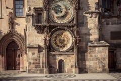 Αστρονομικό ρολόι Πράγα Orloj, Δημοκρατία της Τσεχίας της Πράγας Στοκ φωτογραφίες με δικαίωμα ελεύθερης χρήσης