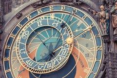 Αστρονομικό ρολόι στην Πράγα Στοκ Εικόνα