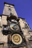 Αστρονομικό ρολόι στην Πράγα Στοκ εικόνα με δικαίωμα ελεύθερης χρήσης