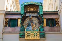 Αστρονομικό ρολόι στη Βιέννη Στοκ Φωτογραφίες
