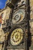 Αστρονομικό ρολόι στο Δημαρχείο, Πράγα Στοκ Εικόνες