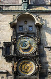 Αστρονομικό ρολόι (Orloj) στην παλαιά πόλη της Πράγας Στοκ Εικόνα