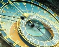Αστρονομικό ρολόι Orloj στην Πράγα στη Δημοκρατία της Τσεχίας Στοκ Εικόνες