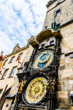 Αστρονομικό ρολόι Orloj στην Πράγα Στοκ Φωτογραφίες