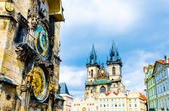 Αστρονομικό ρολόι Orloj στην Πράγα Στοκ φωτογραφία με δικαίωμα ελεύθερης χρήσης
