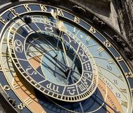 αστρονομικό deta Πράγα ρολογιών Στοκ εικόνα με δικαίωμα ελεύθερης χρήσης