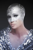 Αστρονόμος κοριτσιών Κοσμολογικός αστρολόγος makeup στοκ εικόνες με δικαίωμα ελεύθερης χρήσης