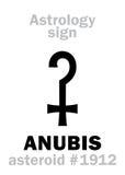 Αστρολογία: αστεροειδές ANUBIS Στοκ φωτογραφία με δικαίωμα ελεύθερης χρήσης