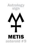 Αστρολογία: αστεροειδές METIS Στοκ Φωτογραφία