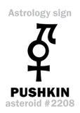 Αστρολογία: αστεροειδές PUSHKIN Στοκ Φωτογραφία
