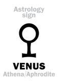 Αστρολογία: πλανήτης ΑΦΡΟΔΙΤΗ ελεύθερη απεικόνιση δικαιώματος