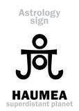Αστρολογία: πλανήτης HAUMEA Στοκ Φωτογραφία