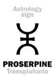 Αστρολογία: πλανήτης PROSERPINE Στοκ εικόνα με δικαίωμα ελεύθερης χρήσης
