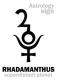 Αστρολογία: πλανήτης RHADAMANTHUS Στοκ φωτογραφία με δικαίωμα ελεύθερης χρήσης