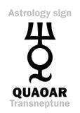 Αστρολογία: planetoid QUAOAR Στοκ φωτογραφία με δικαίωμα ελεύθερης χρήσης