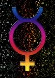 Αστρολογικό σύμβολο του υδραργύρου Στοκ Φωτογραφία