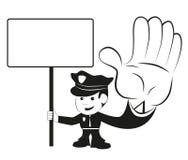 αστυνομία ανώτερων υπαλλήλων Στοκ Εικόνες