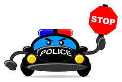 αστυνομία αυτοκινήτων διανυσματική απεικόνιση
