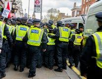 Αστυνομία - διαδήλωση διαμαρτυρίας - Λονδίνο Στοκ φωτογραφία με δικαίωμα ελεύθερης χρήσης