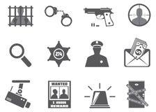 Αστυνομία και εγκληματικότητα Στοκ φωτογραφία με δικαίωμα ελεύθερης χρήσης