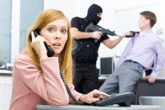 αστυνομία κλήσης Στοκ φωτογραφία με δικαίωμα ελεύθερης χρήσης