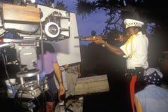 Αστυνομία με τη σκηνή πυροβόλων όπλων από το σύνολο «πειρασμού Στοκ Φωτογραφίες