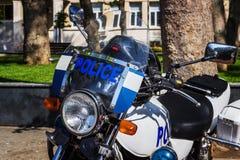 Αστυνομία μοτοσικλετών αστυνομίας στο πάρκο Στοκ Εικόνα