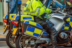 Αστυνομία μοτοσικλετών του Λονδίνου Στοκ Φωτογραφία