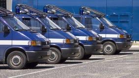 αστυνομία Πόζναν υπαίθριων σταθμών αυτοκινήτων Στοκ φωτογραφία με δικαίωμα ελεύθερης χρήσης