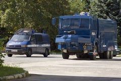 αστυνομία Πόζναν υπαίθριων σταθμών αυτοκινήτων Στοκ εικόνες με δικαίωμα ελεύθερης χρήσης