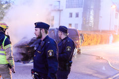 αστυνομία Σουηδία Στοκ Φωτογραφία