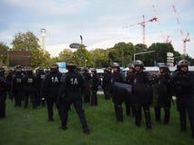 Αστυνομία ταραχής στη Μασσαλία Στοκ Εικόνες