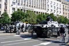 Αστυνομικές δυνάμεις στο κέντρο Βελιγραδι'ου Στοκ φωτογραφίες με δικαίωμα ελεύθερης χρήσης