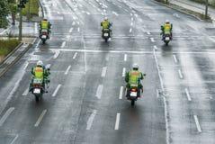 Αστυνομική συνοδεία Στοκ Φωτογραφία