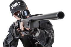 Αστυνομικός με τα όπλα Στοκ εικόνα με δικαίωμα ελεύθερης χρήσης