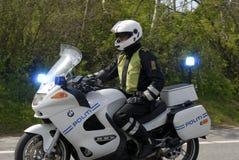αστυνομικός μοτοσικλ&epsilo Στοκ Εικόνες
