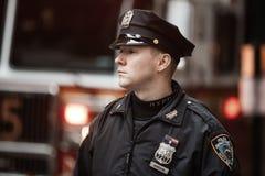 Αστυνομικός NYPD σε NYC Στοκ εικόνα με δικαίωμα ελεύθερης χρήσης