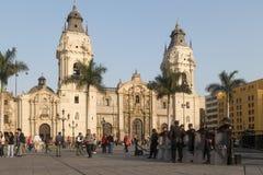 Αστυνομικός Plaza de Armas στη Λίμα, Περού Στοκ Φωτογραφία