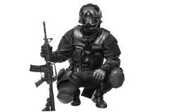 Αστυνομικός SWAT προδιαγραφών ops Στοκ Εικόνες