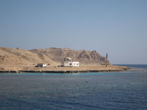 Αστυνομικό τμήμα κοντά σε Hurghada Αίγυπτος στο έδαφος Ερυθρών Θαλασσών Στοκ εικόνα με δικαίωμα ελεύθερης χρήσης